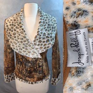 Joseph Ribkoff Reptile cheetah Print Crop Jacket 4